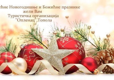 """Срећне Новогодишње и Божићне празнике жели Вам Туристичка организација """"Опленац"""""""
